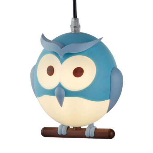 Novelty Childrens Owl Pendant, Blue (Double Insulated) Bx0113Bl-17